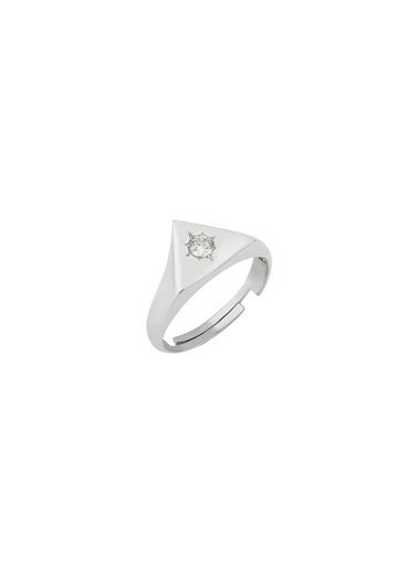 Bendis Design Mini Üçgen Yüzük Gümüş